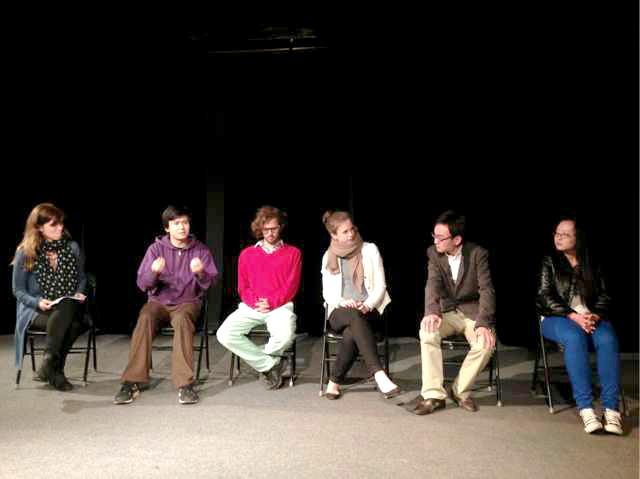 Reading of selected excerpts _ playwright